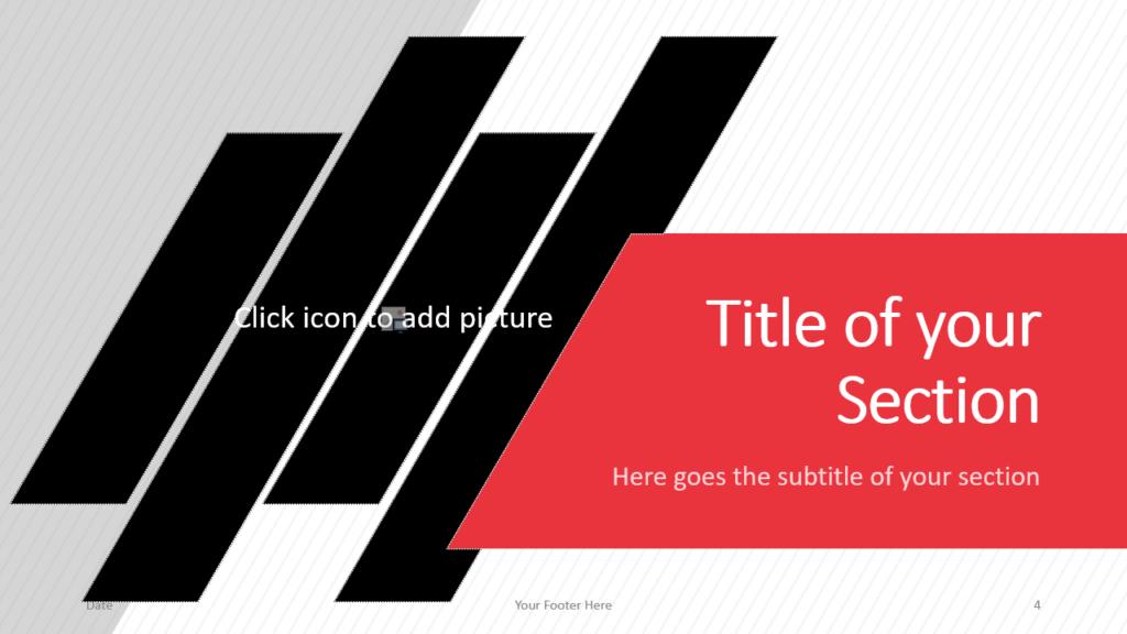 Free Stripes Template for Google Slides – Section Slide (Variant 1)