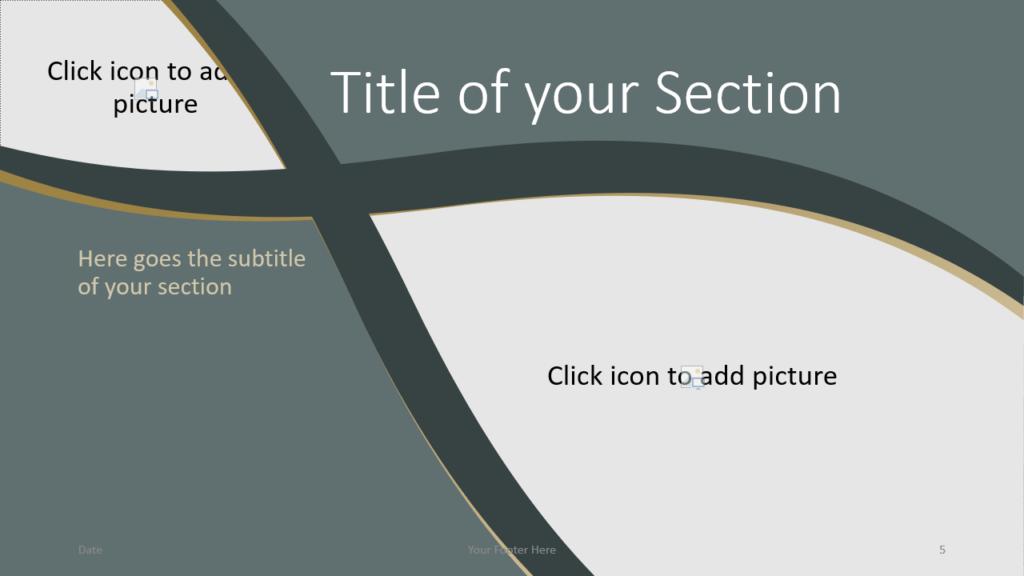 Free Eleganza Template for Google Slides – Section Slide (Variant 2)
