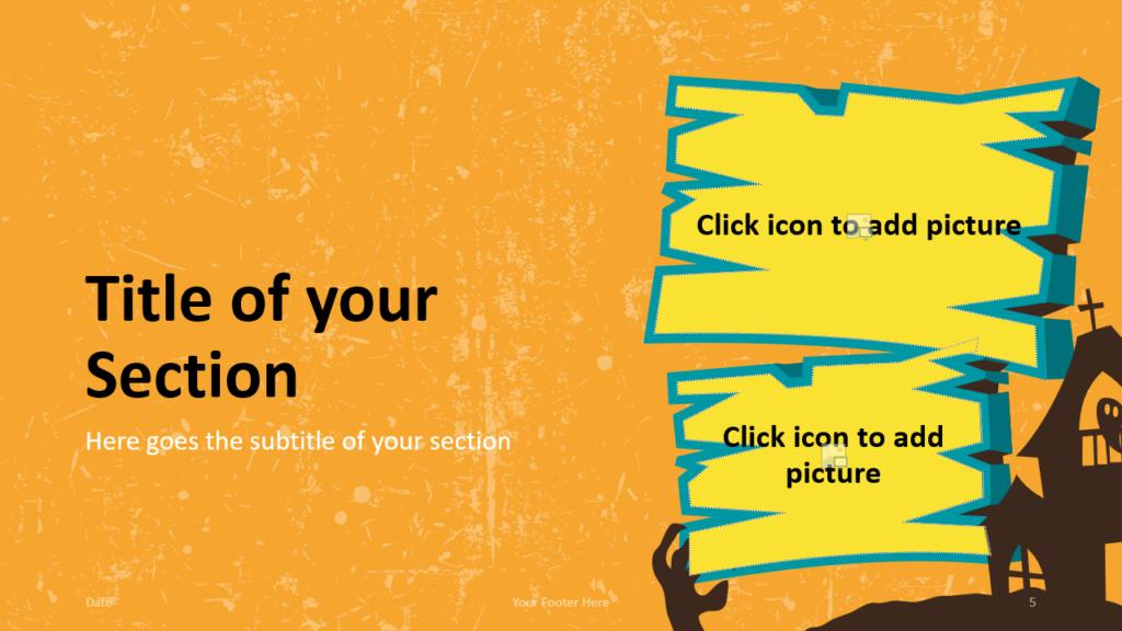 Free SPOOKY Template for Google Slides – Section Slide (Variant 2)