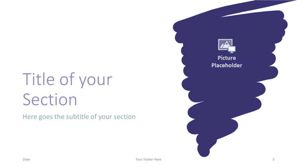 Free Strokes Template for Google Slides – Section Slide (Variant 2)