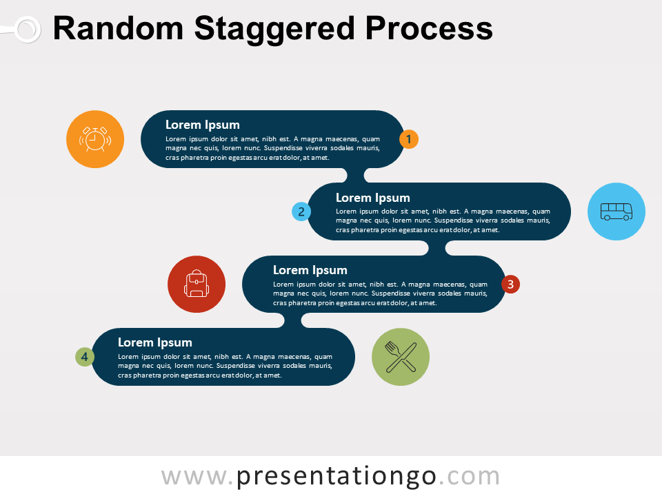 Random Staggered Process For PowerPoint and Google Slide