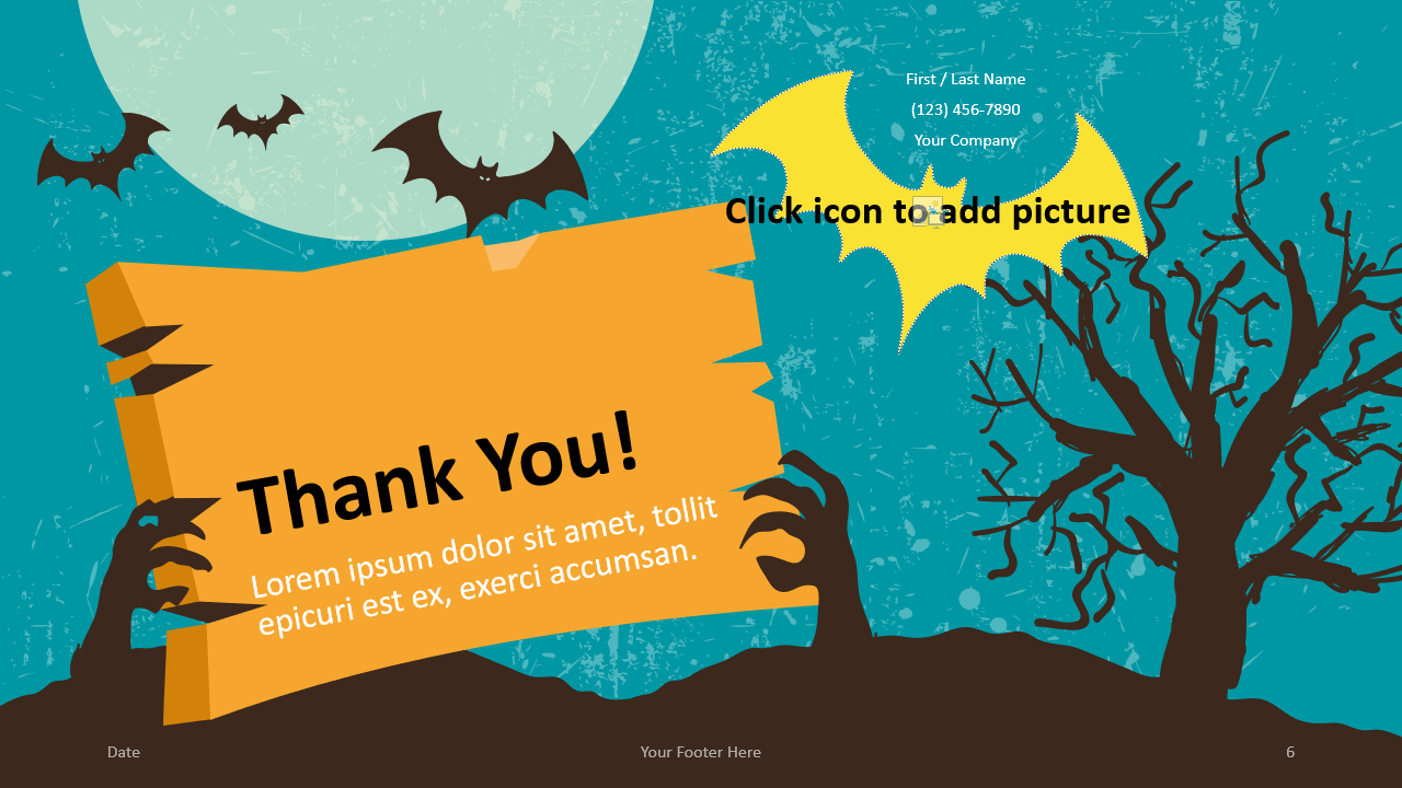 Free SPOOKY Template for Google Slides - Closing / Thank you