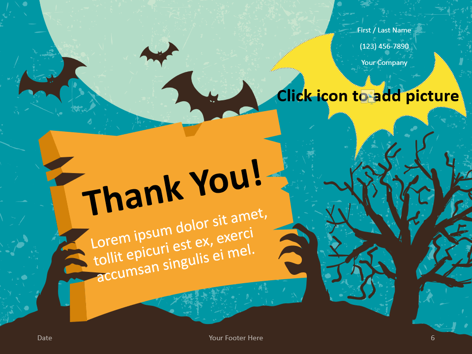 Free SPOOKY Template for PowerPoint - Closing / Thank you