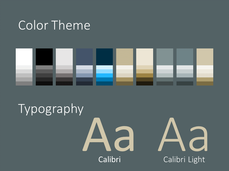 Free Eleganza Template for PowerPoint – Colors and Fonts