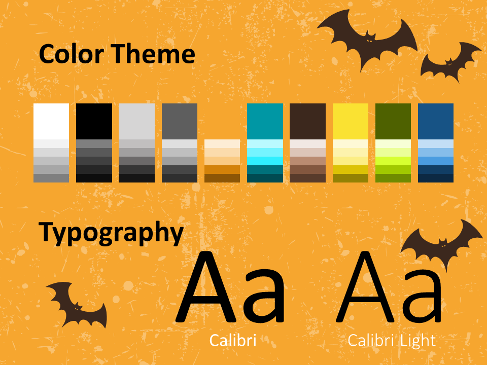 Free SPOOKY Template for PowerPoint – Colors and Fonts