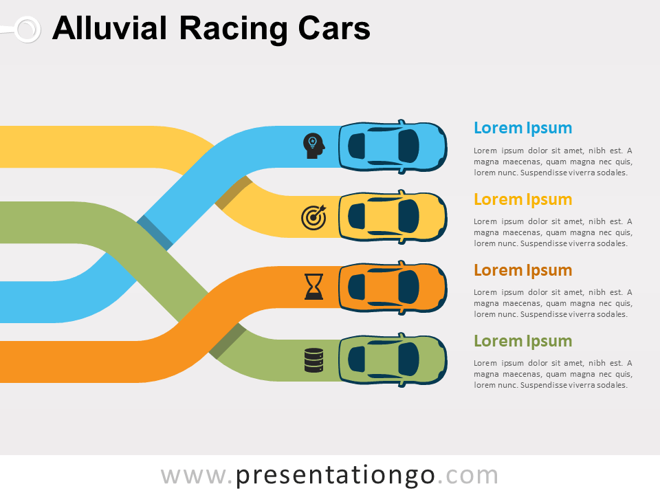Alluvial Racing Cars PowerPoint (Collection)