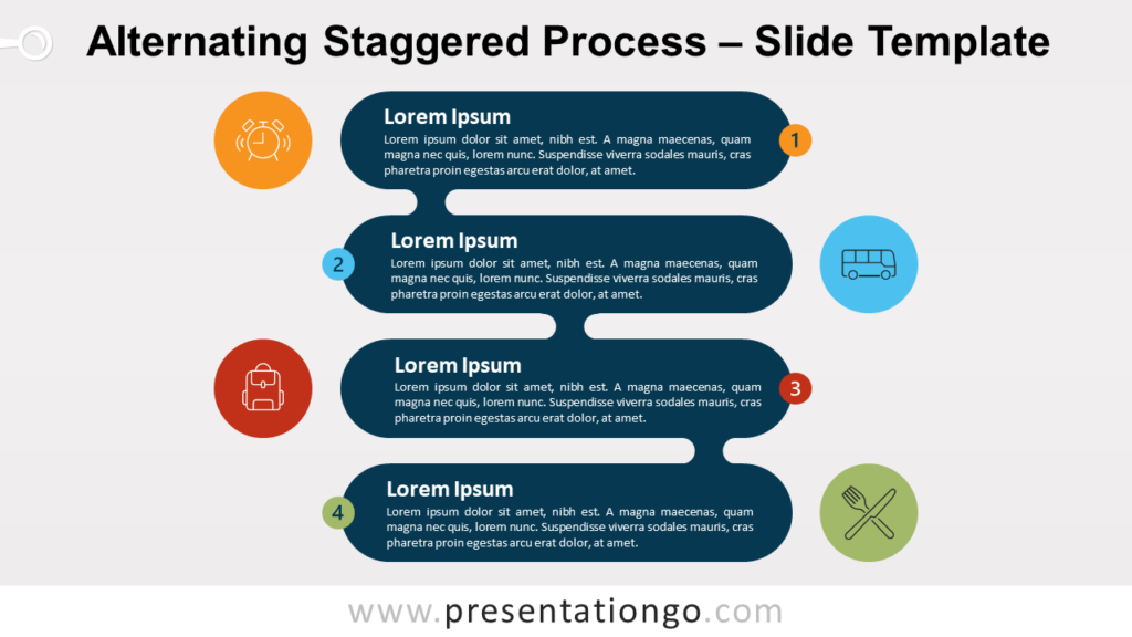Free Alternating Staggered Process for PowerPoint and Google Slides