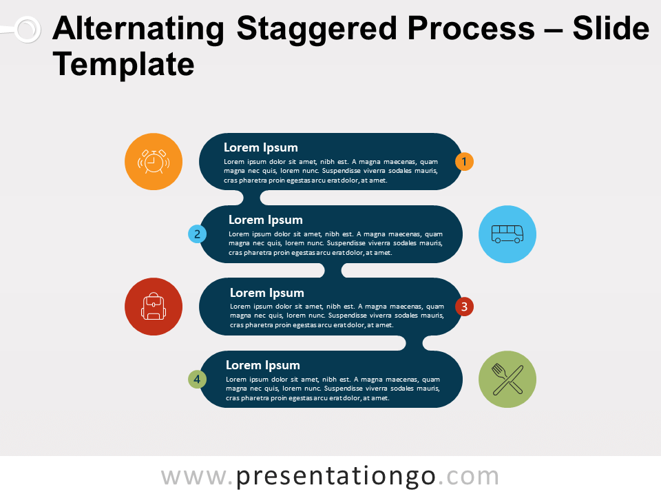 Free Alternating Staggered Process for PowerPoint