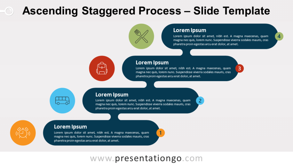 Free Ascending Descending Staggered Process for PowerPoint and Google Slides
