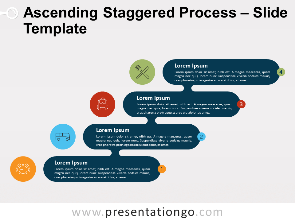 Free Ascending Descending Staggered Process for PowerPoint