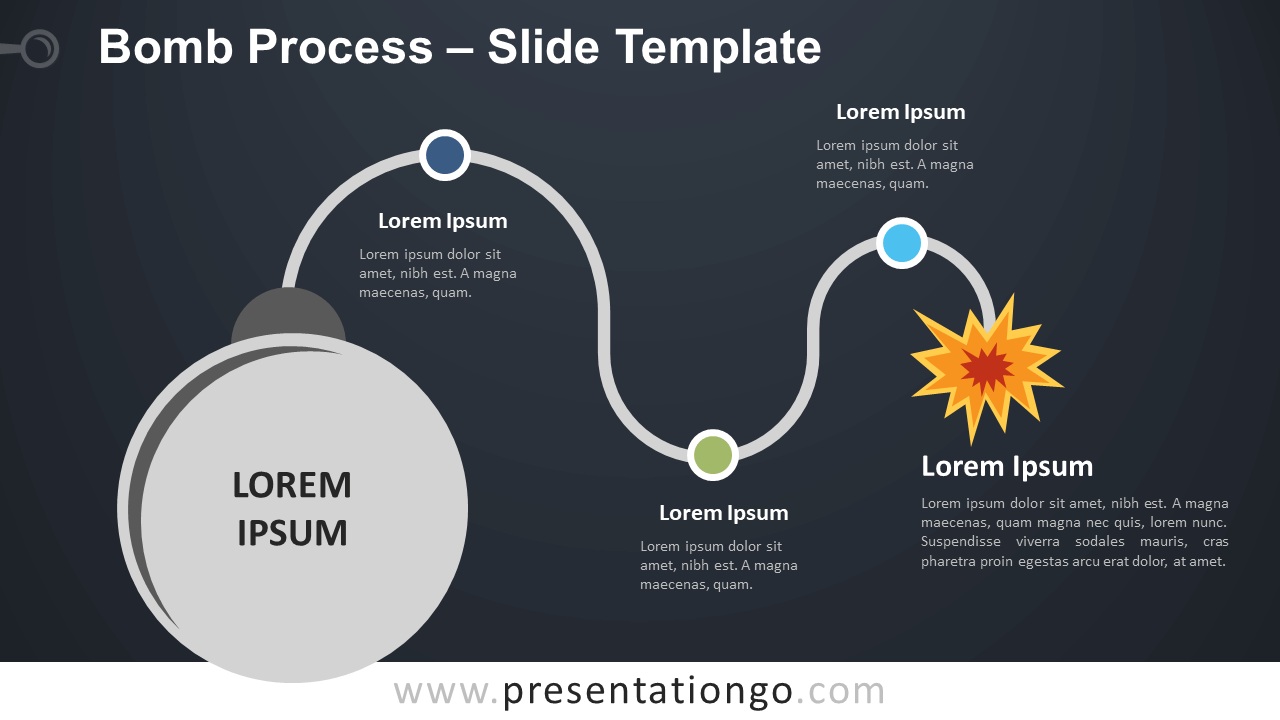 Free Bomb Process Infographic for PowerPoint and Google Slides