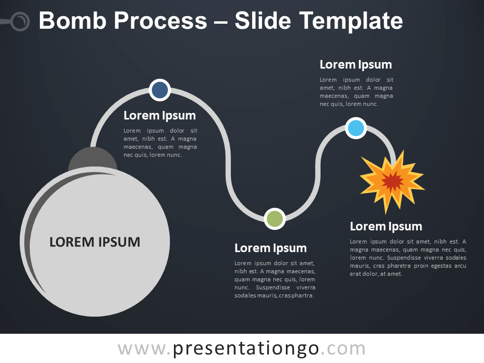 Free Bomb Process Infographic for PowerPoint