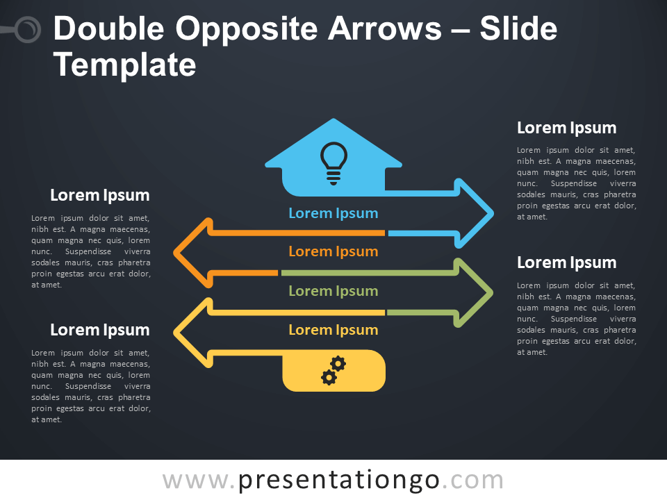 Free Double Opposite Arrows Infographics Diagram for PowerPoint