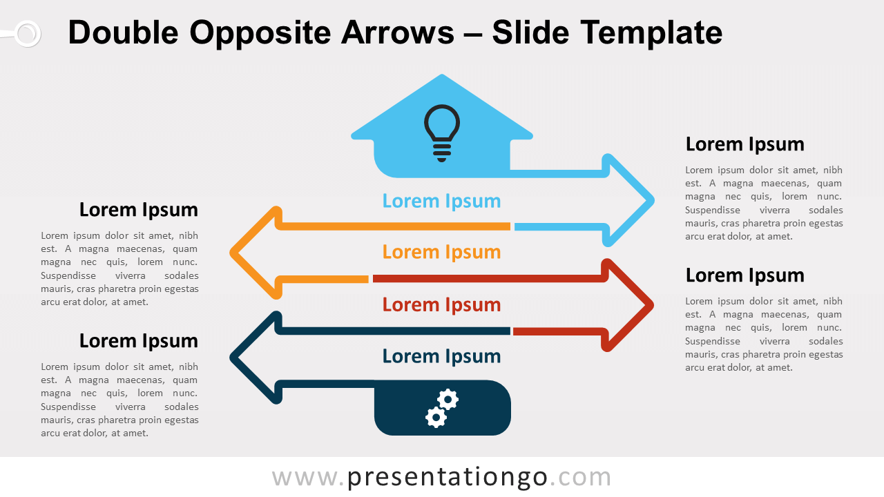 Free Double Opposite Arrows Infographics for PowerPoint and Google Slides