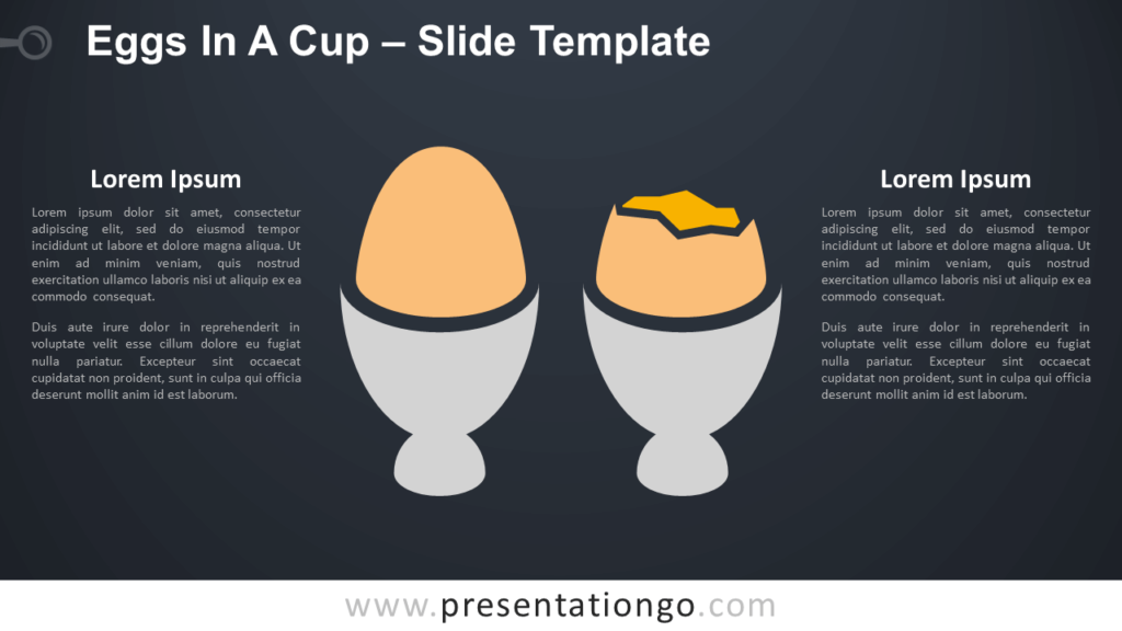 Free Eggs In A Cup Infographic for PowerPoint and Google Slides