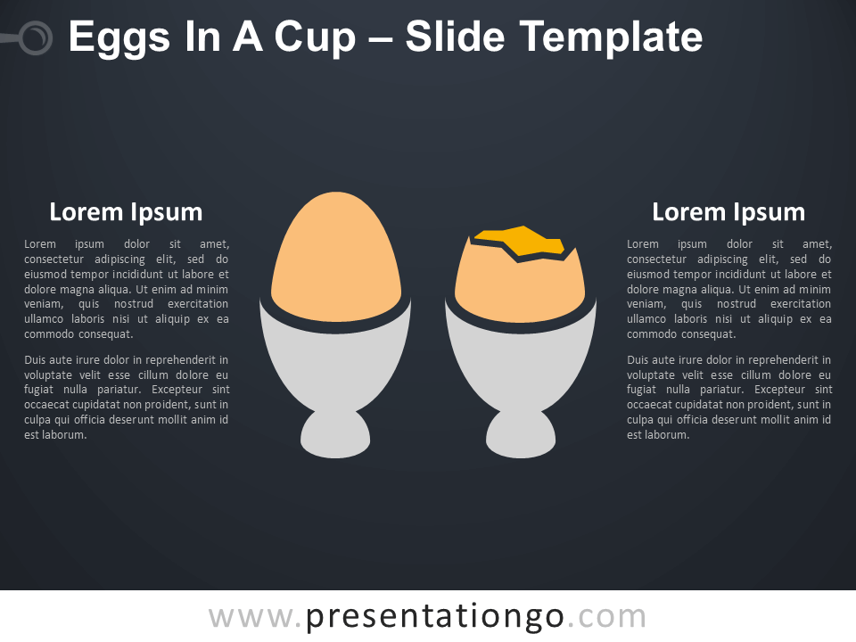 Free Eggs In A Cup Infographic for PowerPoint