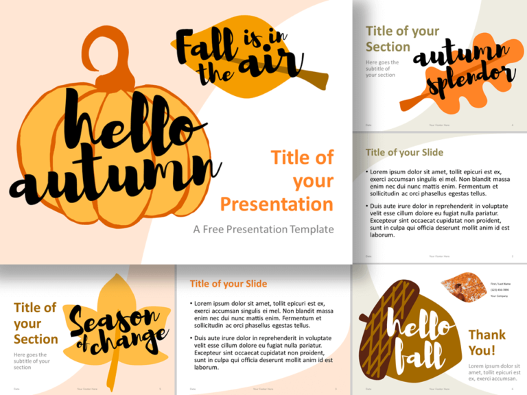 Free Fall Template for PowerPoint and Google Slides