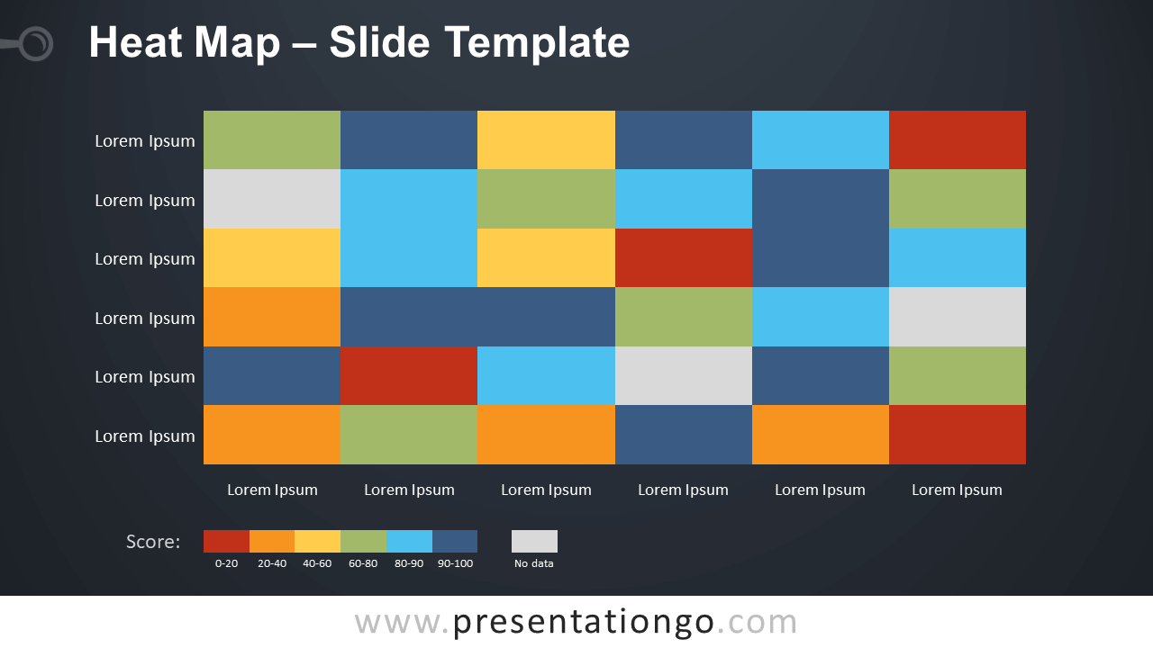 Free Heat Map Infographic for PowerPoint and Google Slides