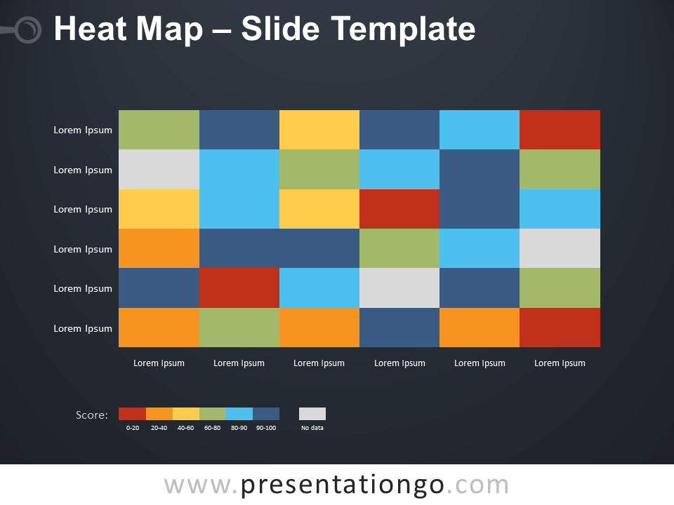 Free Heat Map Infographic for PowerPoint