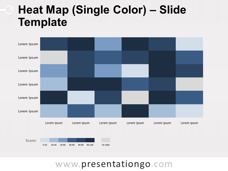 Free Heat Map Template for PowerPoint