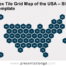 Free Hex Tile Grid Map of the USA for PowerPoint