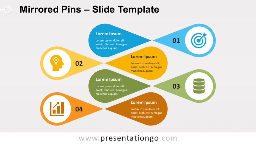 Free Mirrored Pins for PowerPoint and Google Slides