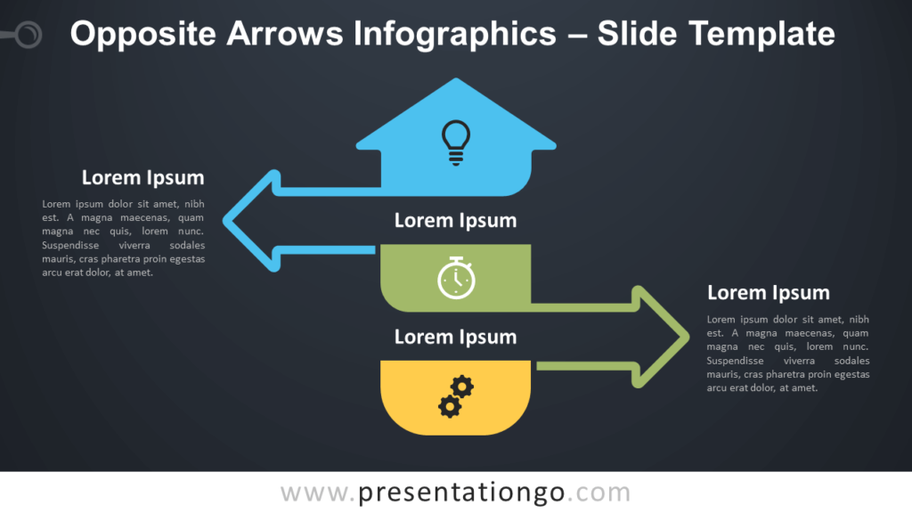 Free Opposite Arrows Infographics Diagram for PowerPoint and Google Slides