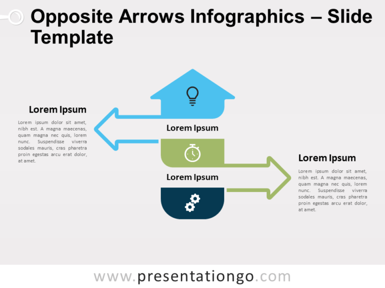 Free Opposite Arrows Infographics for PowerPoint