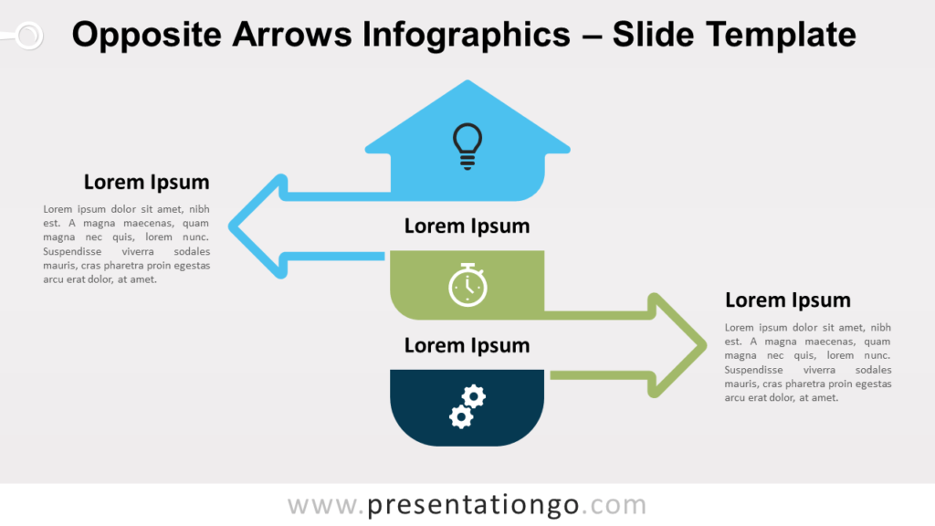 Free Opposite Arrows Infographics for PowerPoint and Google Slides