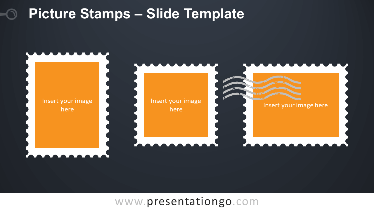 Free Picture Stamps Infographic for PowerPoint and Google Slides