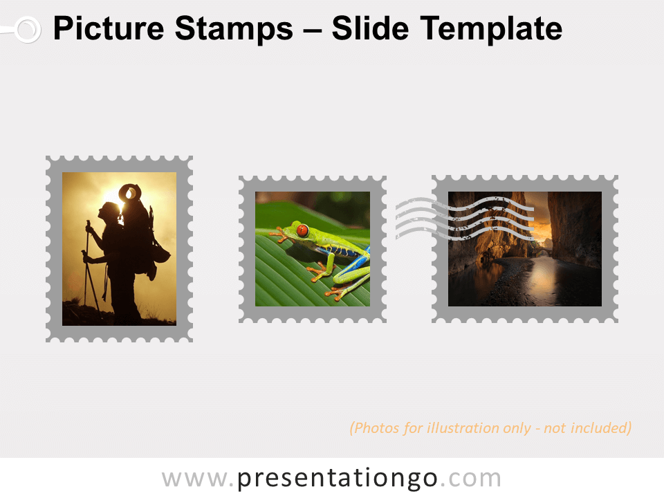 Free Picture Stamps Infographic for PowerPoint