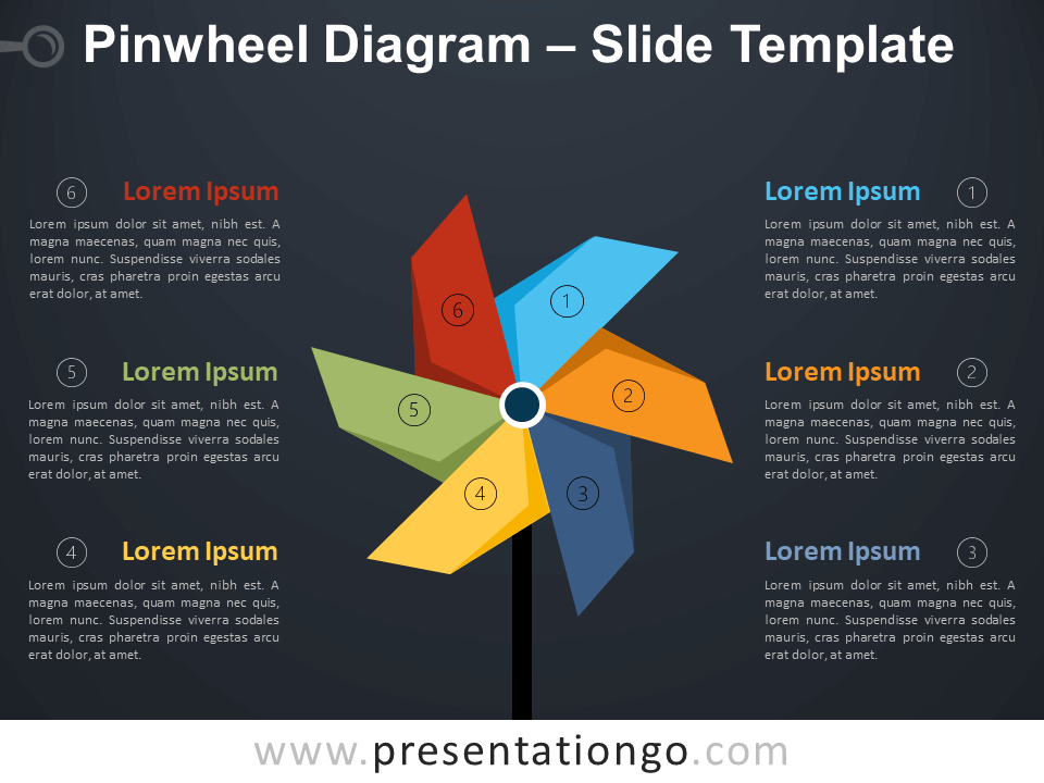 Free Pinwheel Diagram Infographic for PowerPoint