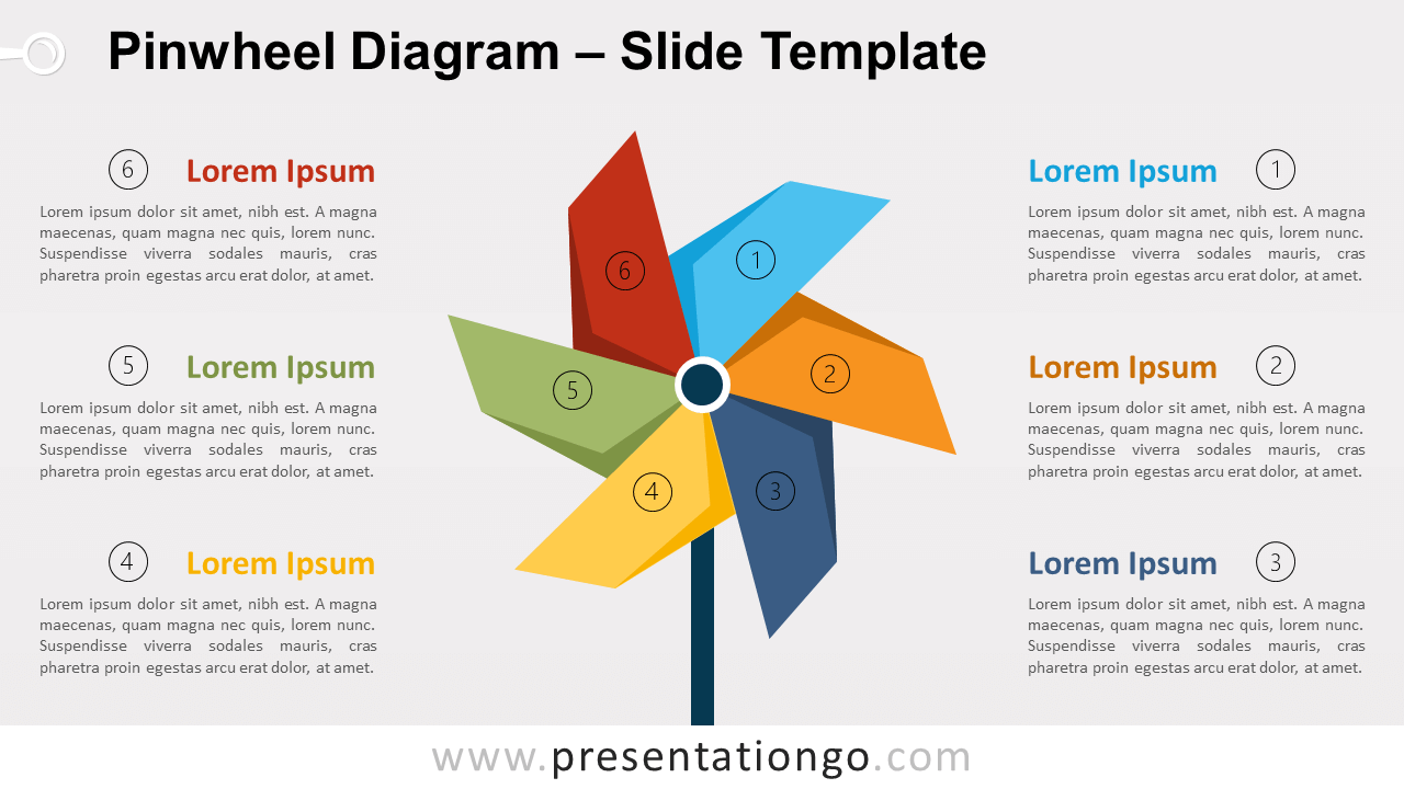 Free Pinwheel Diagram for PowerPoint and Google Slides