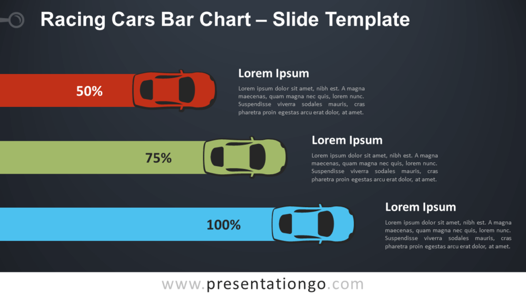 Free Racing Cars Bar Infographic for PowerPoint and Google Slides