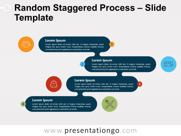 Free Random Staggered Process for PowerPoint