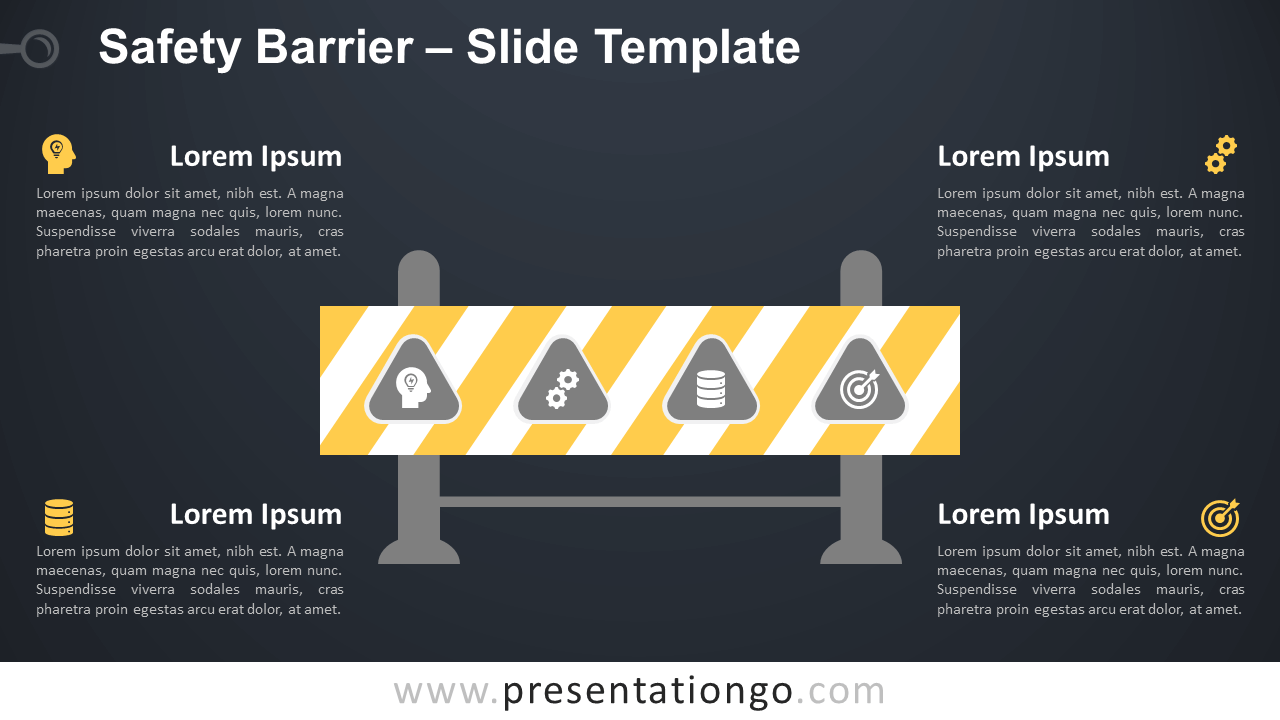 Free Safety Barrier Infographic for PowerPoint and Google Slides