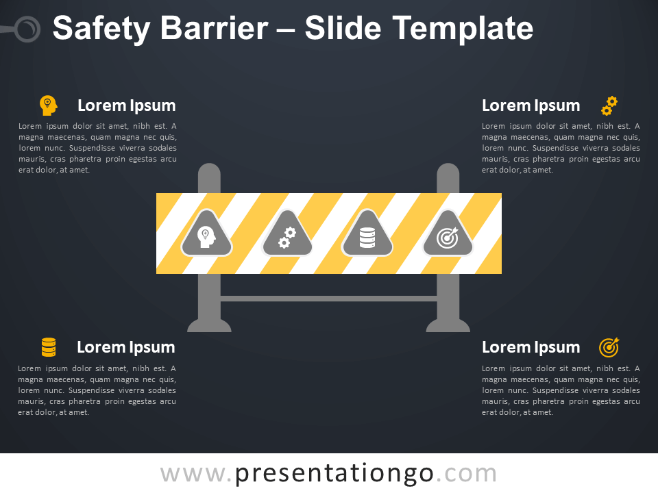 Free Safety Barrier Infographic for PowerPoint