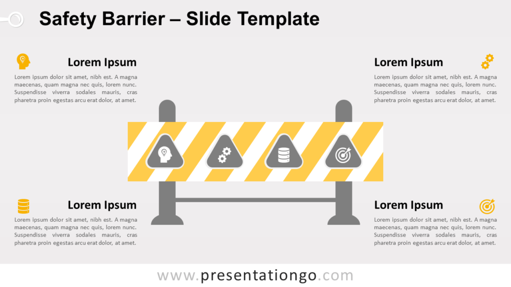 Free Safety Barrier for PowerPoint and Google Slides
