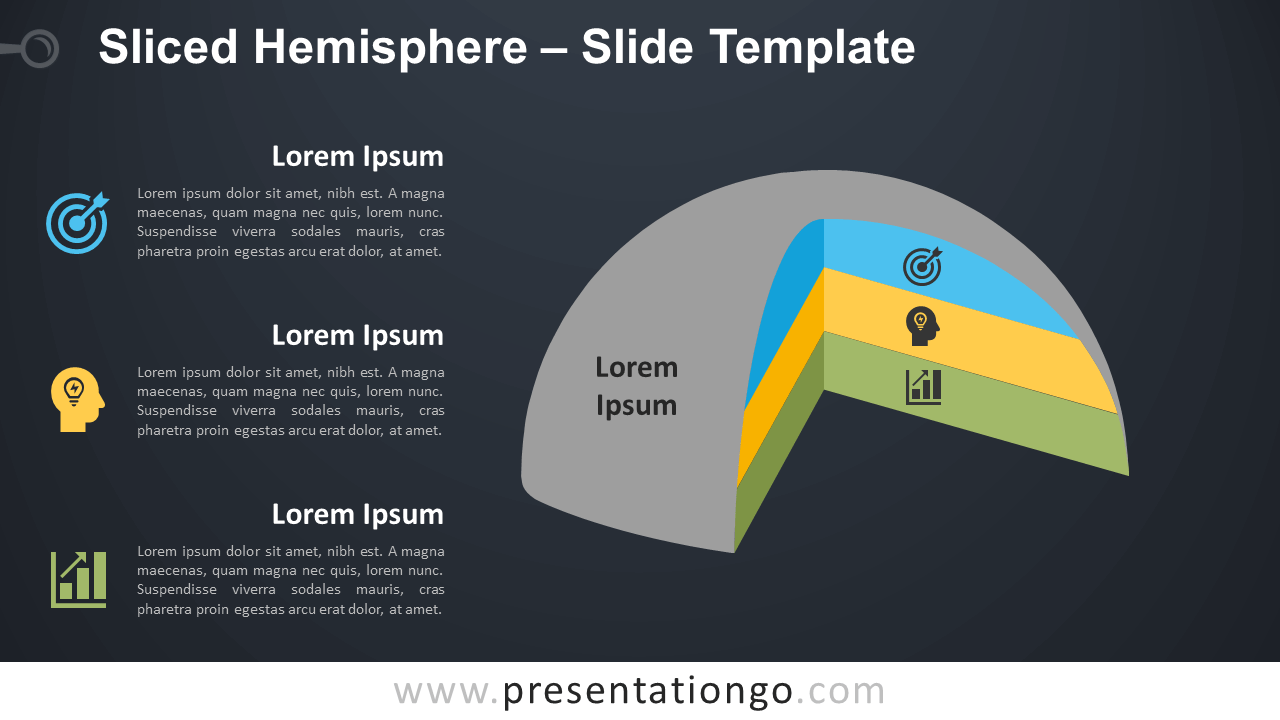 Free Sliced Hemisphere Infographic for PowerPoint and Google Slides