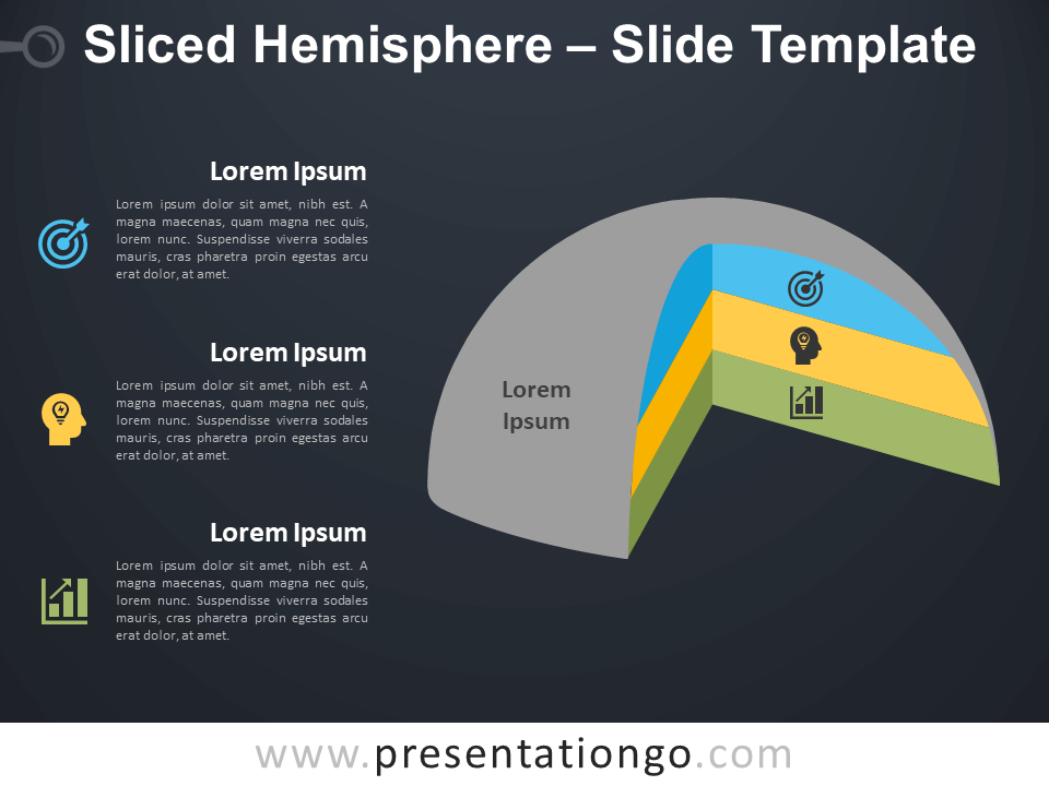 Free Sliced Hemisphere Infographic for PowerPoint
