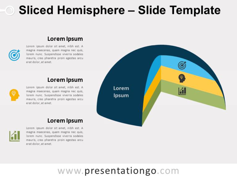 Free Sliced Hemisphere for PowerPoint