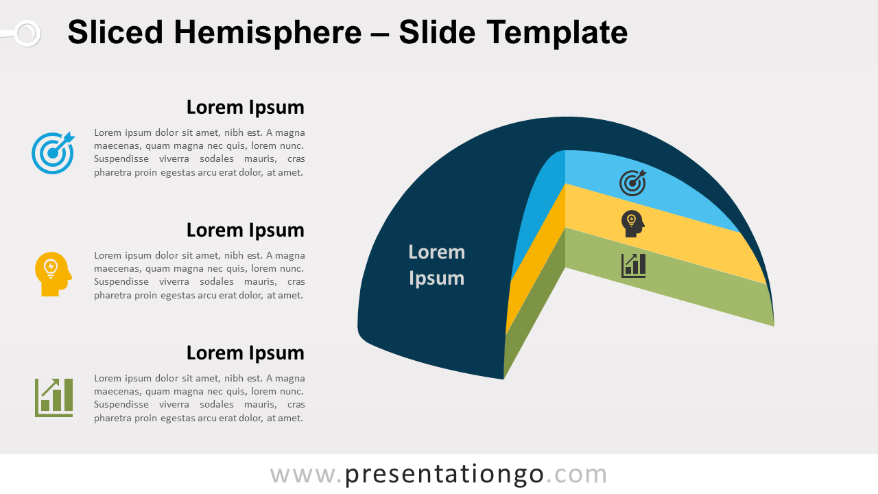Free Sliced Hemisphere for PowerPoint and Google Slides