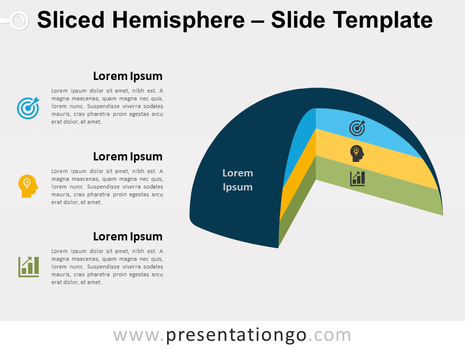 Free Sliced Hemisphere for PowerPoint