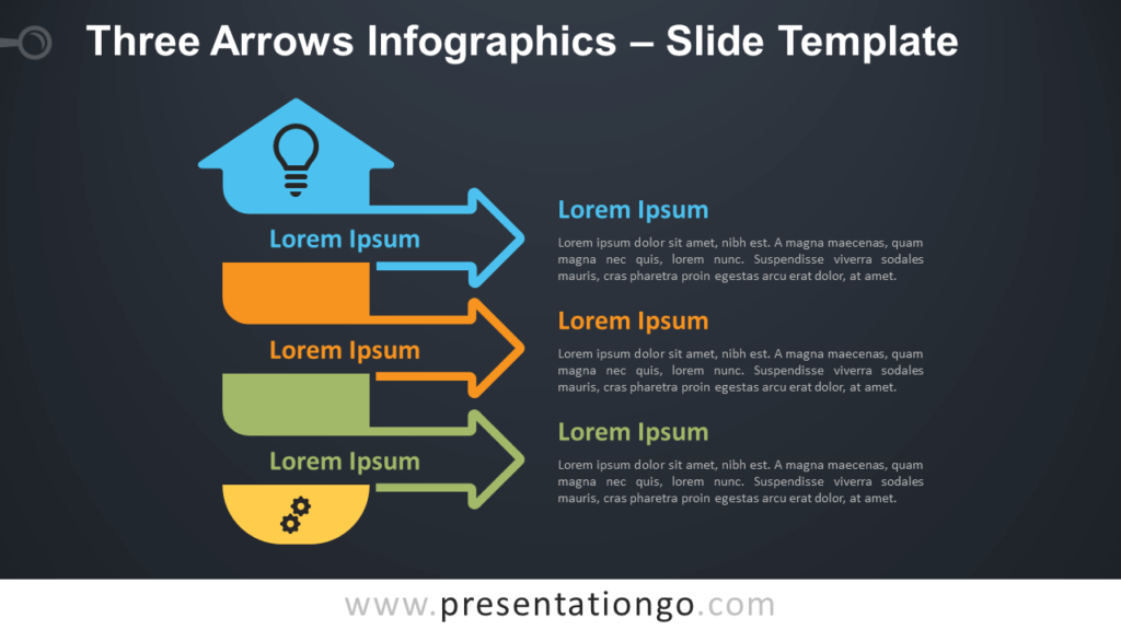 Free Three Arrows Infographics Diagram for PowerPoint and Google Slides