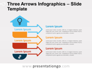 Free Three Arrows Infographics for PowerPoint