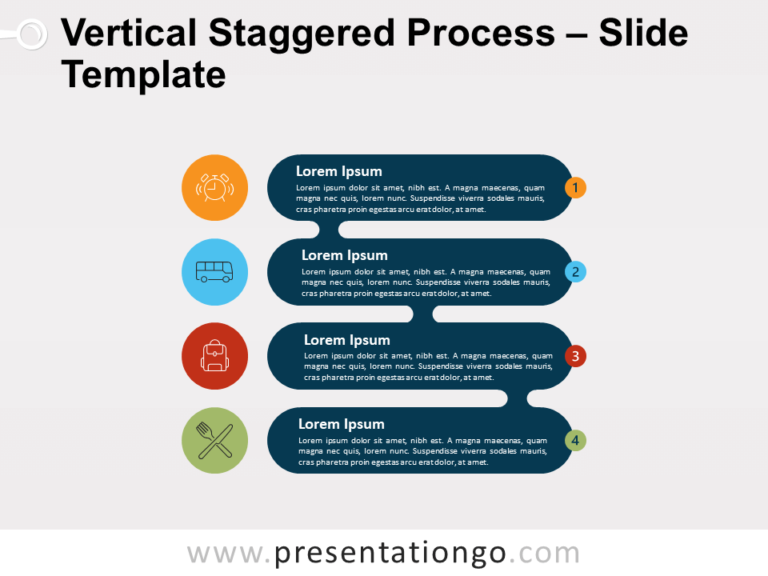 Free Vertical Staggered Process for PowerPoint