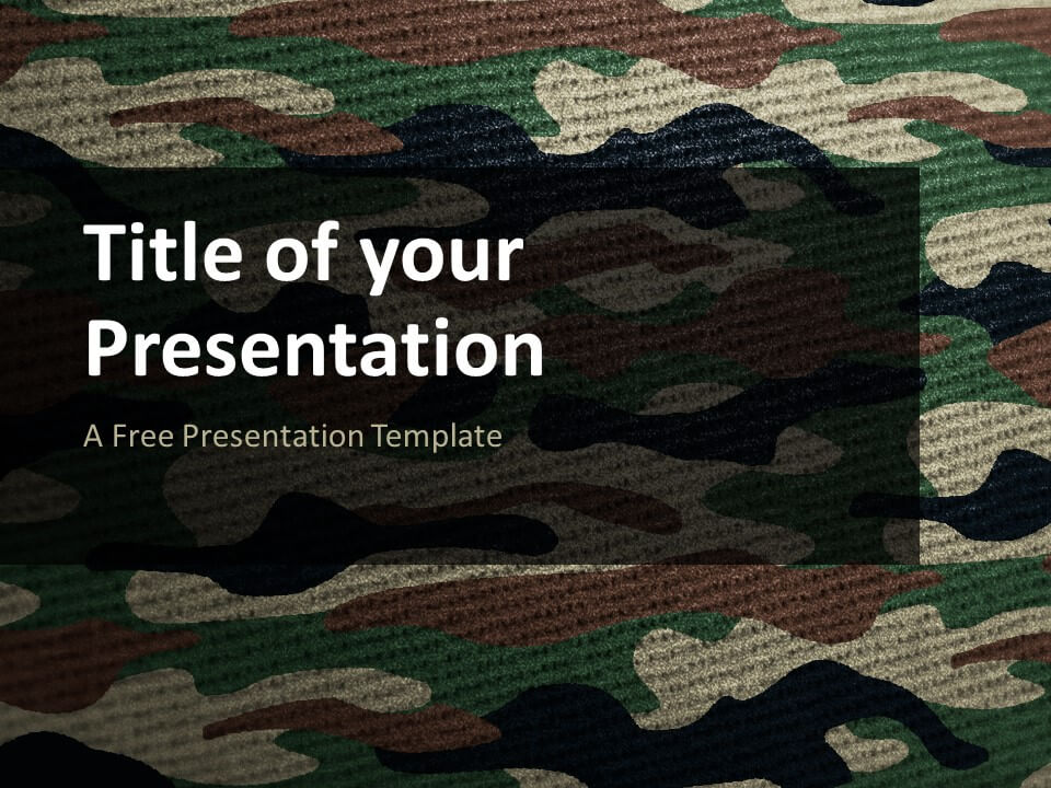 Free CAMO Template for Google Slides - Cover Slide