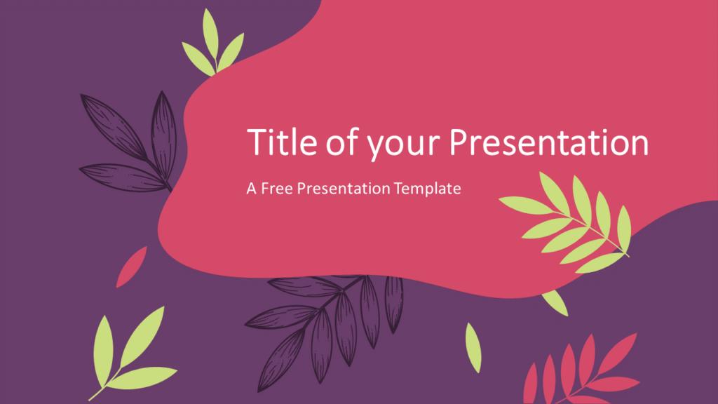 Free Sorbet Leaves Template for Google Slides - Cover Slide