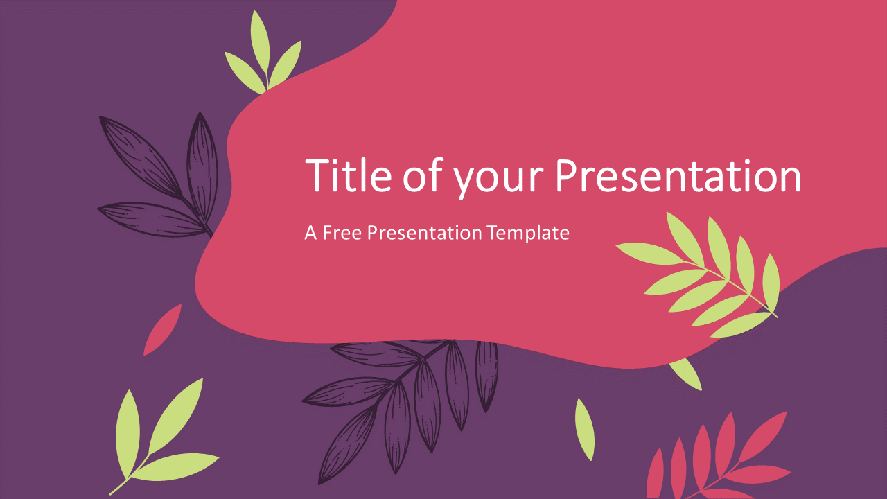 Free Sorbet Leaves Template for Google Slides - Cover Slide
