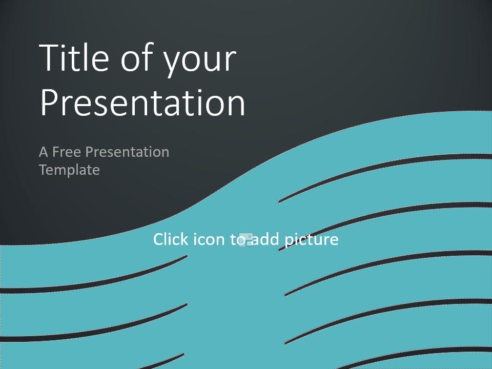 Free Wavy Template for Google Slides - Cover Slide